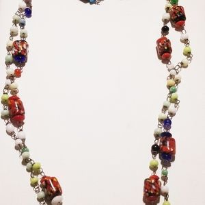 Jewelry - Vintage Venetian glass linked necklace